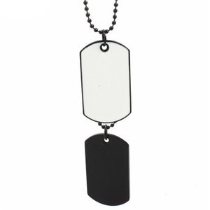 Wholesale Newest 2 Dog Tags Necklaces Men Pendant Necklace Brilliant Quality Military Chain Pendant Army Style Necklace Mens Jewelry Gift