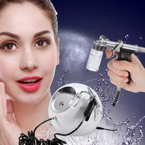 Wholesale new Facial Steamer O2 Oxygen Injection Spray Water Jet Peel Skin Care Wrinkle Removal Machine gl