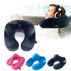 Wholesale U Shape Travel Pillow for Airplane Inflatable Neck Pillow Travel Accessories Comfortable Pillows for Sleep Home Textile Colors