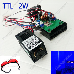 Wholesale Focusable nm mW Blue Laser Diode Module with TTL for CNC Engrave Cutter DIY Lighting with Goggles