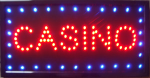 Wholesale Casino Beer Pub Games Poker Bar LED Sign Neon Light Sign Display Inch Indoor Use