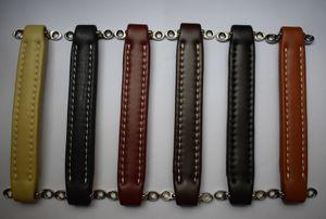 Vintage Guitar AMP Amplifier Leather Handle Six Color Brown Orange Claret Black Cream Preppy Navy