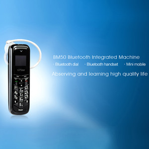 Wholesale Bluetooth headset BM50 Unlocked Mini Phone Bluetooth Headset Least Mobile Phone Bluetooth Dialer Headphone Pocket Cellphone black white