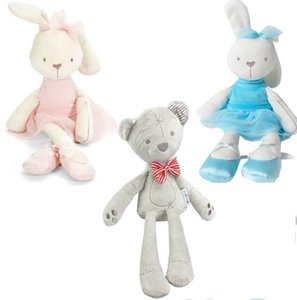 Wholesale Baby Stuffed Plush Toys styles Kids Bunny Bear Elephant Dolls Cute Animals Kids Sleep Comfort Toy Animals New Year Gift