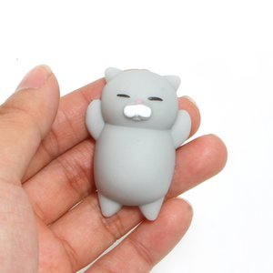 Wholesale 6CM New Kawaii Japan Lazy Cat Mochi Decompress Cute Squishy Squeeze Animal Cats Adult Kids Healing Toys Mini Gifts