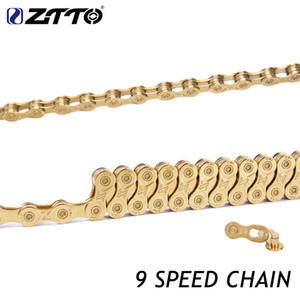 Wholesale ZTTO 9s 18s 27s 9 Speed MTB Mountain Bike Road Bicycle Parts High Quality Durable Gold Golden Chain for Shimano SRAM System