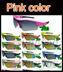 Wholesale HOT men sports spectacles Bicycle Glass outdoor sunglasses PINK cycling sunglasses fashion dazzle colour mirrors A colors