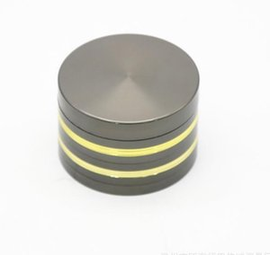Diameter 63MM Four Layers of New Gold Edge Flat Plate Gun Black Smoke Grinder Metal Fume