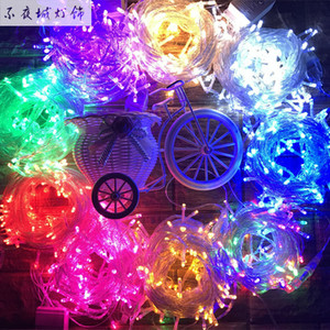 Wholesale 10 meters with tail plug LED lights Mantianxing waterproof outdoor lamp string wedding decoration lamp bar Christmas lights
