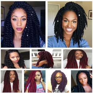 Wholesale ombre braiding hair 16 inches for sale - Group buy 2X Havana Mambo Twist Crochet Braids Hair inch g pack Ombre Synthetic Kanekalon Senegalese Twist Braiding Hair Extensions