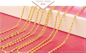 Wholesale Big Promotions Lowest Price K gold water wave Chain Necklace Lobster Clasps rippleChain Jewelry Size g