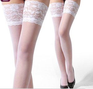 Wholesale Top sell Sexy Black Lace Suspender Stockings Summer Girls Long Socks Over Knee Silk Stocking Thigh Highs Stockings Lace Stocking Top Solid