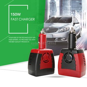 Wholesale 150W V DC to V V AC Car Power inverter USB Plug converter charger For cellphone phone Samsung laptop adapter