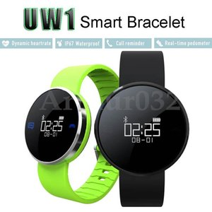 Wholesale UW1 Smart Bracelet Heart Rate U Watch Smartband Bluetooth Pedometer Wrist Sport IP67 Waterproof Wristband Smartwatch For IOS Andriod Phone