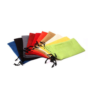 Wholesale Soft Microfiber Cloth Pouch For Sunglasses Glasses Carrying Storage Bags Small Jewelry Gift Drawstring Pouches ZA3831