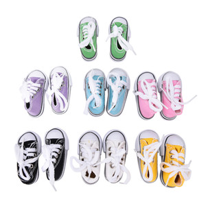 Wholesale 1 Pair Denim Canvas Shoes For BJD Doll Toy Mini Doll Shoes for Sharon Doll Boots Dolls Sneackers Accessories Hot Sale cm