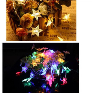 Wholesale string lights resale online - LED holiday lights lamp string stars light string pearl Pentacle lamp series Halloween Christmas lights festival decoration lamp