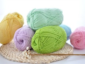 Hand knitting yarn Skin-friendly crocheting soft yarn baby wool for sweater overcoat baby shoes mat blanket doll knitting 100g PC DL_KNT036