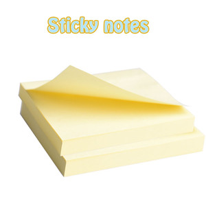 Wholesale- 1pc Yellow Label Sticker Classic Bookmark Tab Flags Notes Memo Pad Sticky Note Paper Home School And Office Stationery Supplies