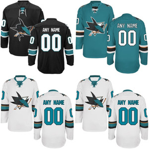 Wholesale san jose shark resale online - San Jose Sharks Jersey S XL Personalized Customized Jerseys With Any Name and Any Number Stitched Embroidery Logos Hockey Jerseys