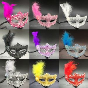 Wholesale Halloween Feather Masquerade Venice Masks Makeup Party Masquerade Decorations Masks For Masquerade Ball Maskmasquerade Masks