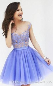 Wholesale Sexy Party Dresses 2016 New Lace Applique Skirt Prom Fashion Charming Gauze Dress Beauty Dress Homecoming Gowns Plus Size