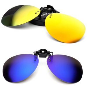 Wholesale Sunglasses Clip Myopia Polarized Unisex Ultra light Lens On Sun glasses color UV400 Driving Toad goggles With packaging free ship