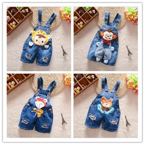 Children's cartoon suspenders 0 to 3 years old infants and young children in summer summer bull-puncher knickers manufacturers sell on Sale