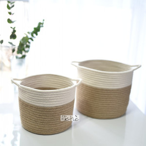 Wholesale Storage Basket Restore Folding Straw Bag Software Decorative Flowers Pot Set Dirty Clothes Place Baskets Simple Hot Sell cj J R
