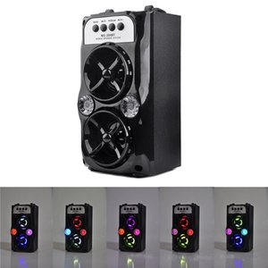 Wholesale Speaker MS BT LED Wireless Bluetooth Portable Speakers with USB TF AUX FM Radio Outdoor Super Bass Black MIS167