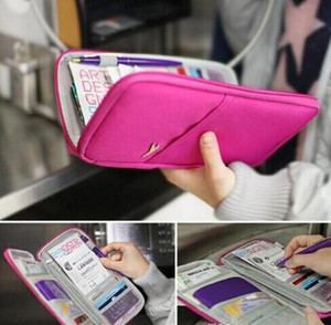 Wholesale Pouch Wallet Travel Journey Fabric Passport ID Card Holder Case Cover Wallet Purse Organizer Bag Makeup Bag MOQ