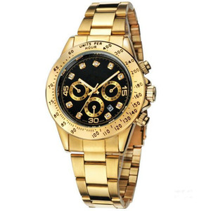 relogio masculino mens watches Luxury dress designer fashion Black Dial Calendar gold Bracelet Folding Clasp Master Male 2020 gifts couples