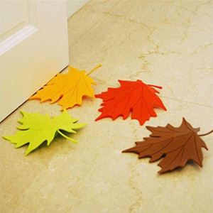 Wholesale- 2015 New Arrivel Hot Maple Autumn Leaf Style Home Decor Finger Safety Door Stop Stopper Doorstop