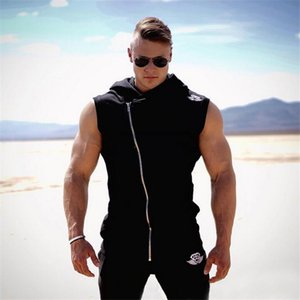 Wholesale 2017 Newest Cotton Hoodie Body Engineers Fitness Clothes Tees Shirt Bodybuilding Tank Top Men Brand Clothing Exercise Vest jackets