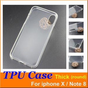 Wholesale For Iphone X note Case Crystal Gel clear Case mm Thick high quality not the Ultra Thin transparent Soft TPU Cases by DHL