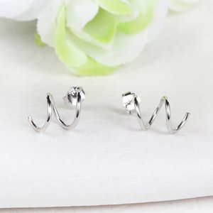 Wholesale Spiral vortex earring S925 silver Korean hot jewelry nice price fashion jewelry accessory factory direct selling