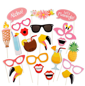 fournitures d'anniversaire carnaval achat en gros de-news_sitemap_home20 Flamingo Tropical Summer Hen Booth Props Hawaii Carnaval Party Decoration Photobooth Anniversaire Fournitures