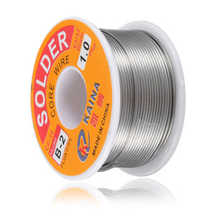 Wholesale- Hot 100g 3.5oz FLUX 2.0% 1mm 63 37 45FT Tin Lead Line Rosin Core Flux Solder Soldering Welding Iron Wire Reel New
