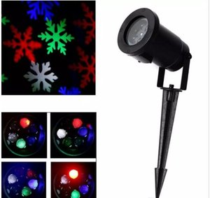 Wholesale New Waterproof Moving Snowflake Laser LED Landscape Light Snowflake LED Stage Light For Christmas Party Landscape Light Garden Lamp Outdoor
