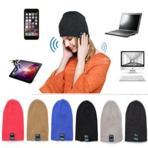 10 Colors Wireless Bluetooth Beanies Sport Music Hat Smart Headset Cap Warm Winter Hat With Mic Speaker For All Smart Phones CCA8404 20pcs