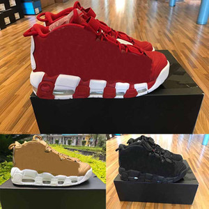 Wholesale [With Box]New 96 QS Olympic Varsity Maroon Mens Basketball Shoes For 3M Scottie Pippen Uptempo Sports Sneakers 7-12