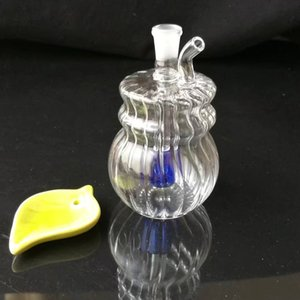 Wholesale little glass bongs resale online - Glass pipes Glass bubbler oil rig Glass bongs Double little bottom JH049 mm