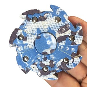 Wholesale 2017 Camouflage Hand Spinner Seven Flap Plastic Iron Hand Spinner Steel Bearing For Autism ADHD Anxiety Stress Toy