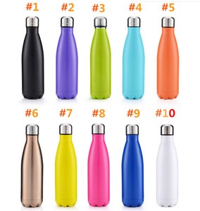 Cola Shaped water bottle Vacuum Insulated Travel Water Bottle Double Walled Stainless Steel coke shape Water Bottle free shipping (7)