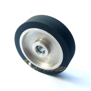 200*50mm Flat Rubber Contact Wheel Belt Grinder Accessories