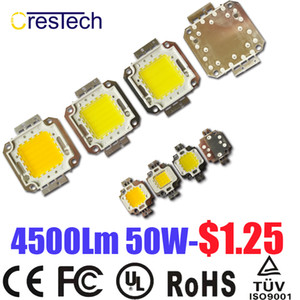 Wholesale Free Shipping 100pcs Epistar Chip High Power LED COB LED 10W 20W 30W 50W 70W 80W 100W Cold White 6000-6500K On Stock