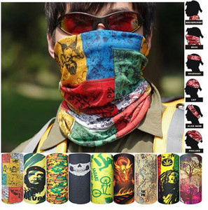 Wholesale skull half helmets motorcycle resale online - 100pcs Multi bike motorcycle helmet face mask half skull mask CS Ski Headwear Neck cycling pirate headband hat halloween pirate kerchief