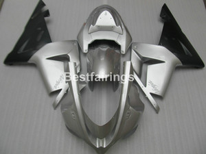 Wholesale lower fairing for kawasaki ninja resale online - Lower price moto parts fairing kit for Kawasaki Ninja ZX10R silver black motorcycle fairings set ZX10R YT49