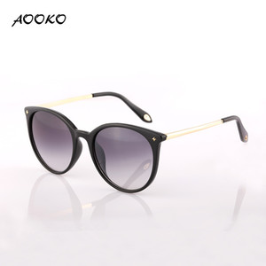 Wholesale AOOKO AK7857 Metal Frame Cat Eye Women Sunglasses Female Sunglasses Famous Brand Designer Alloy Legs uv400 Glasses oculos de sol feminino