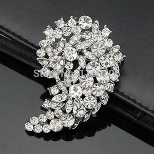 Wholesale Star Jewelry Brooches For Wedding Big Crystal Brooch Rhinestone Bouquet Accessories